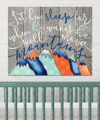 'Let Him Sleep for when He Wakes He Will Move Mountains' Canvas Art TOLI1145