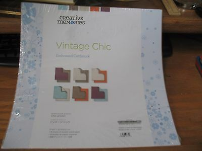 Creative Memories 12 x 12 Paper / Card Stock Vintage Chic Embossed 18 sheets