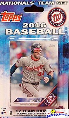 2016 Topps Washington Nationals EXCLUSIVE Special Limited Edition 17 Cd Team Set