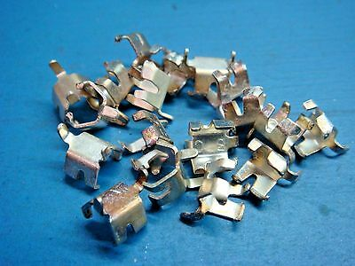 """(18) Littelfuse 1220090 Pcb Fuse Clip Holder 1/4"""" Cartridge Silver Plate"""