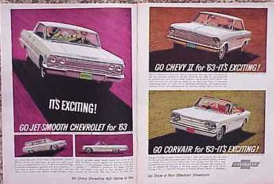 1963 Chevrolet Impala / Chevy Ii / Corvair ~ 2-Page Ad