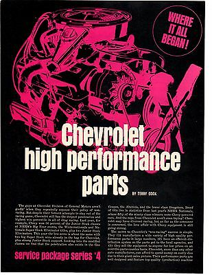 1968 Chevrolet High Performance Parts  ~  Original 6-Page Article / Ad