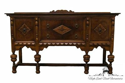 Antique Rockford Furniture Dorset Jacobean Gothic Revival 70″ Sideboard / Buffet