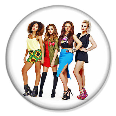 "6 LITTLE MIX 25mm 1/"" Pin Badge Button JADE PERRIE JESY LEIGH-ANNE"
