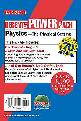 Physics - The Physical Setting Power Pack (Regents Powe - Paperback NEW Miriam A