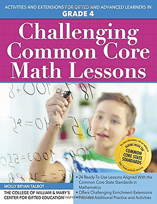 Challenging Common Core Math Lessons (Grade 4): Activit - Paperback NEW Center f