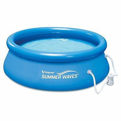 Summer Waves 8' Ft. Quick Set Inflatable Above Ground Pool with Filter Pump