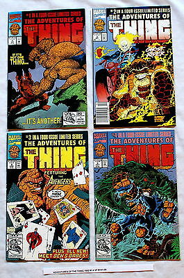 ADVENTURES OF THE THING 1992 Ben Grimm BYRNE Miller PEREZ Ghost Rider #1-4 VF