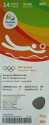 TICKET 14.8.2016 Olympia Rio Beach Volleyball # B86