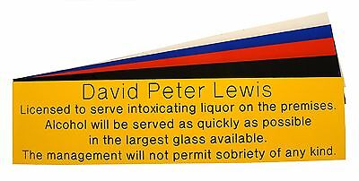 Engraved Garden Party Home Bar Pub Licensee Personalised Man Cave Sign Plaque