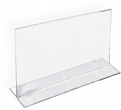 Azar 152727 Horizontal Double-Sided Stand Up Sign Holder, 10 Count