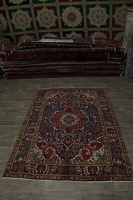 Amazing Hand Knotted Semi Antique Tabriz Persian Rug Oriental Area Carpet 7X10