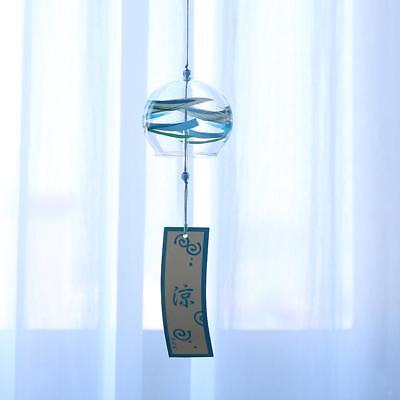 Japanese Style Glass Wind Chime Wind Bell Shop Window Hanging Decor DIY Crafts