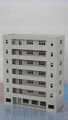 Outland Models Railway Modern Building Dormitory / School Grey N Scale 1:160