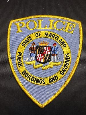 State Of Maryland Public Buildings And Grounds Police Shoulder Patch