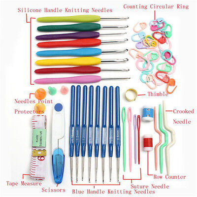1x Knitting Craft set Crochet hooks 16 sizes Needles Stitches Case crochet 2016