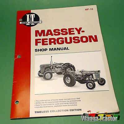 MF10 Workshop Manual Massey Harris MH 333 444 Tractor & MHF 303 404 406 1001 Ind