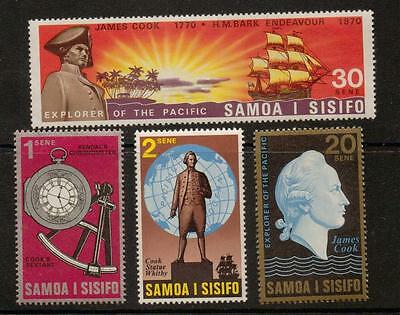 Samoa Sg349/52 1970 Cook's Exploration Of The Pacific Mnh