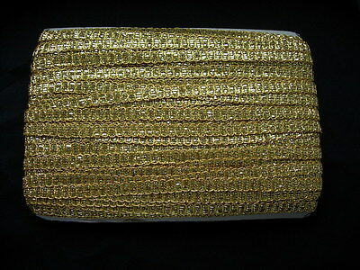 """GB74 1/2"""" Metallic Gold Braided Gimp Trimming Lace Sewing/Upholstery 10yards"""