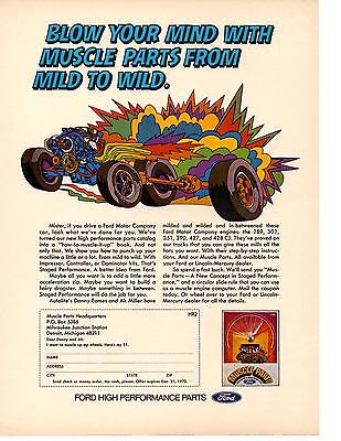 1969 Ford High Performance Muscle Parts  ~  Nice Original Print Ad