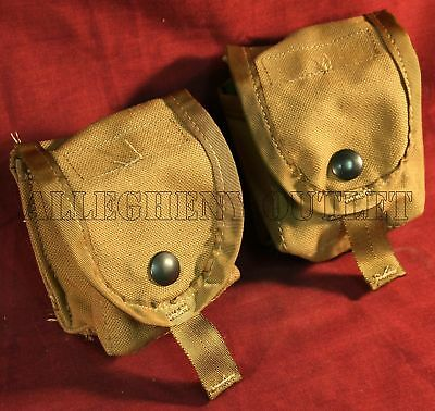 Lot of 2 US Army Military Surplus Molle Coyote Frag Hand Grenade Ammo Pouch NEW