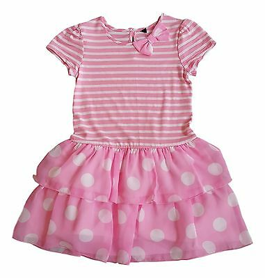 Girls Kids Baby Dress Minnie Mouse Mickey Mouse Disney Summer Party 12Mth-8Yrs