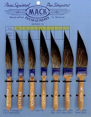 Pinstriping Brushes Mack series 10 Mack Brush available sizes 1 0 00 000