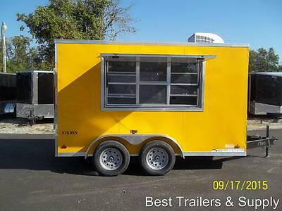 7 x 12 enclosed concession trailer vending finished w electrical  and AC loaded