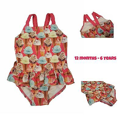Girls Baby Kids Swimsuit Swimming Costume Bathing Suit Outfit Beach Ice Cream