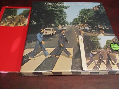 BEATLES Abbey Road DELUXE EDITION LIMITED LP BOX SET & LARGE TEE POSTER &1987 CD