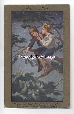 ch0029 - Peter Pan - High In The Tree Tops - artist Barham - postcard