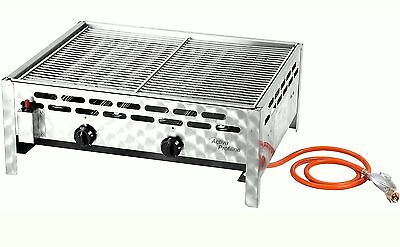 Catering roasters Grill Stainless steel Gas Grill,2 Brenner BBQ 12535 Gastronomy