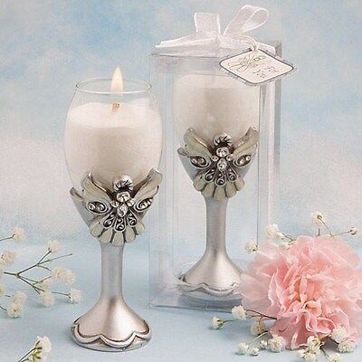 40 Angel Champagne Flute Candle Holders Christening Baby Shower Favors