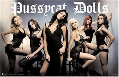 PUSSYCAT DOLLS ~ BLACK LINGERIE GROUP 22x34 MUSIC POSTER NEW/ROLLED!