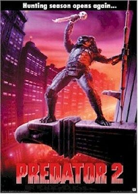 PREDATOR 2 ~ HUNTING SEASON OPENS AGAIN ~ 24x36 MOVIE POSTER ~ NEW/ROLLED!