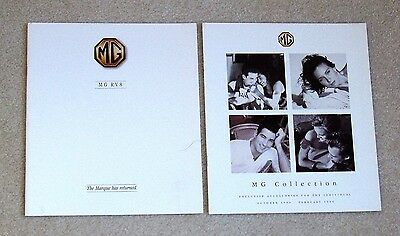 1992 MG RV8 and 1994-95 MG Collection of Accessories - 2 UK Issued Brochures
