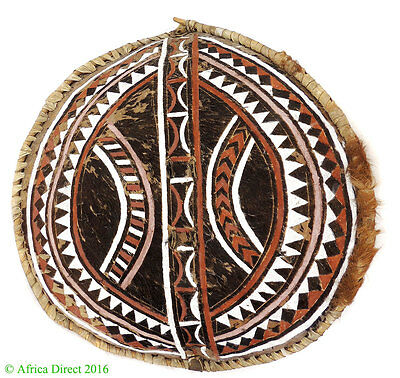 Maasai Leather Shield Tanzania Africa 28 Inch Gelb Collection