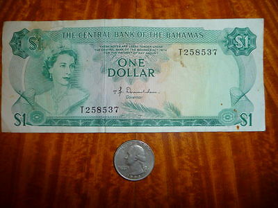 ***SALE**1 Dollar Bank Note from the Bahamas 1974