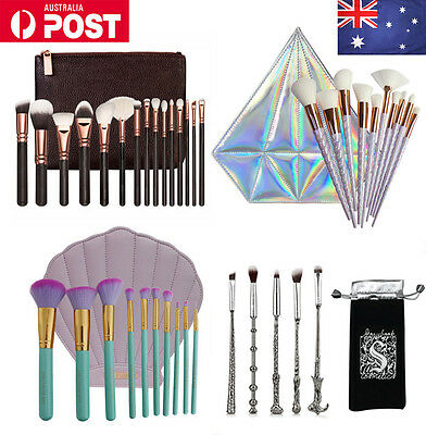 Pro 10pcs Makeup Brush Set Powder Foundation Eyeshadow Eyeliner Lip Brushes Tool