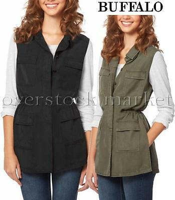New Women's Buffalo David Bitton Lightweight Vest! Button Front! Lyocell Variety