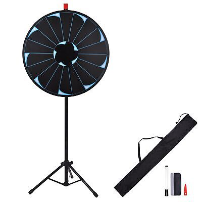 "WinSpin® 30"" Editable Prize Wheel 18 Slot Floor Stand Tripod Spin Game Tradeshow"