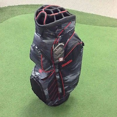 2017 OGIO STINGER Premium Cart Bag - LOADED WITH FEATURES  15 Way Top - Camo/Red