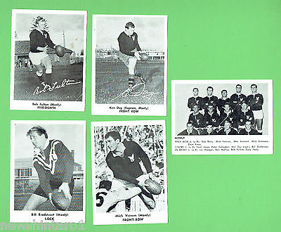 1967  Manly Sea Eagles  Mirror Newspaper Rugby League Cards
