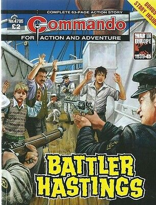 Battler Hastings,commando For Action And Adventure,no.4705,war Comic,2014