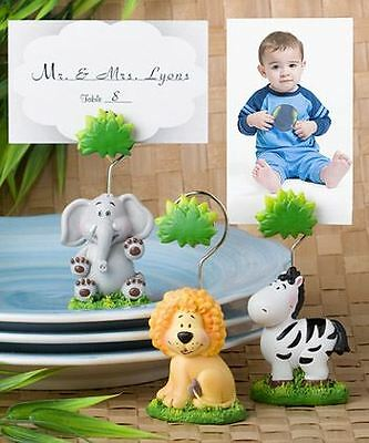 6 Assorted Jungle Animals Place Card Holders Baby Showers Christenings Favors
