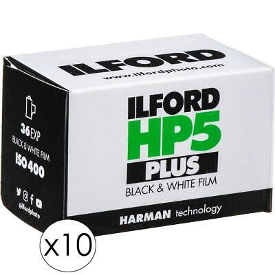 Ilford HP-5 Plus BW Film, ISO 400, 35mm, 36 Exposures - 10 Pack w/Cleaning Kit
