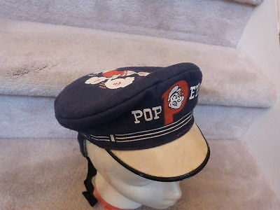 """EXTREMELY RARE VINTAGE 1940s K.F.S. POPEYE Child's Sailor Cap 8"""" king features"""