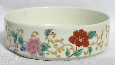Signed JAPAN Japanese Shallow Dish Bowl Nibbles Trinkets Hand Painted Flowers