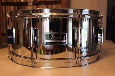Pearl Export 6.5 X 14 Chrome Snare Drum Very Nice Condition