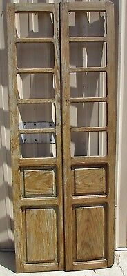 Antique Pair Mexican Old-Vintage-Primitive-Rustic-36x92-Barn Doors-Tall